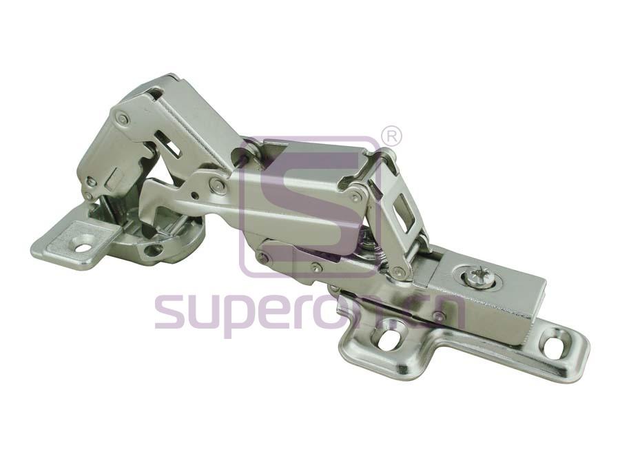 Soft-closing hinge, 165°, clip-on