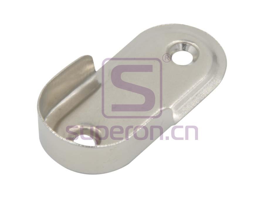 Tube oval flange, steel, D25mm