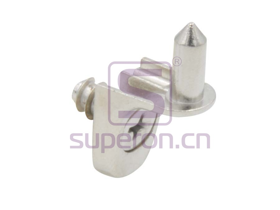 Shelf support with nail and screw