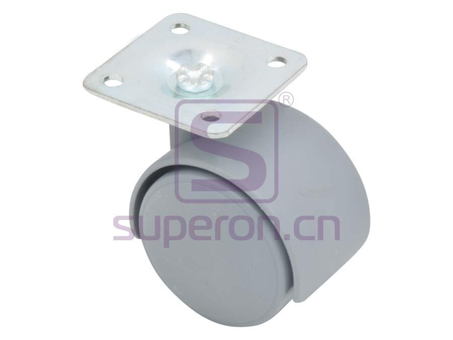 04-600-grey   Castor, wıth plate