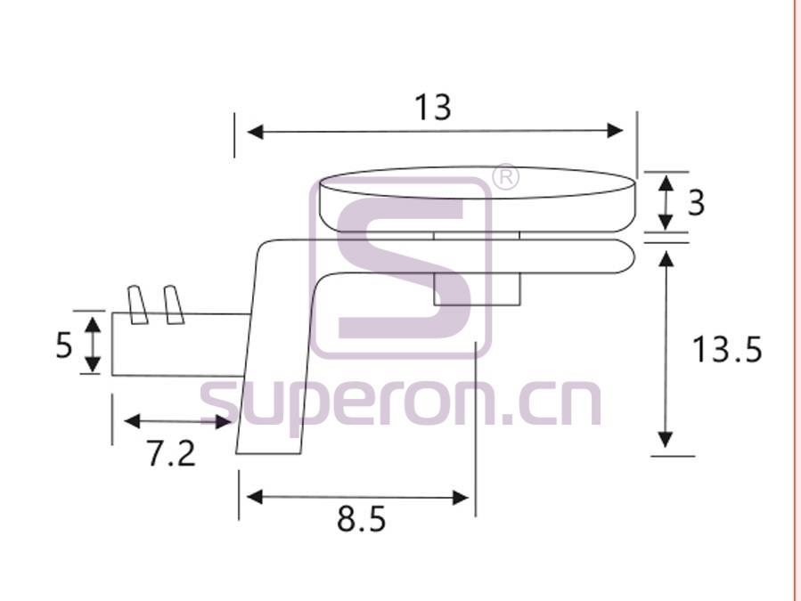 08-008-q | Shelf support, L shaped