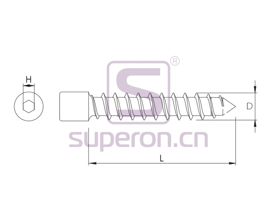10-085-q   Self-tapping screw, hex